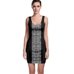 Cyberpunk Silver Print Pattern  Bodycon Dress