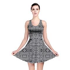 Cyberpunk Silver Print Pattern  Reversible Skater Dress