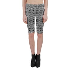 Cyberpunk Silver Print Pattern  Cropped Leggings