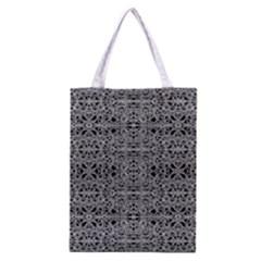 Cyberpunk Silver Print Pattern  Classic Tote Bag