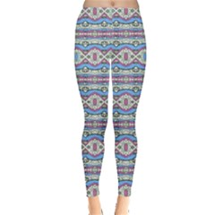Aztec Style Pattern in Pastel Colors Leggings