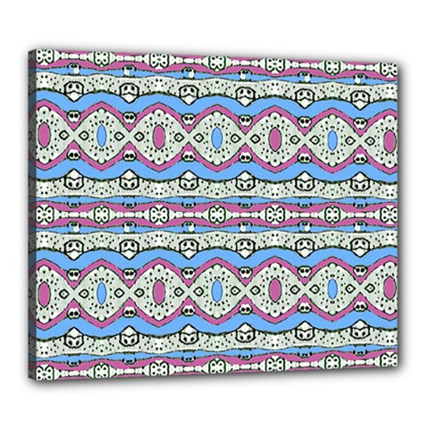 Aztec Style Pattern In Pastel Colors Canvas 24  X 20  (framed)