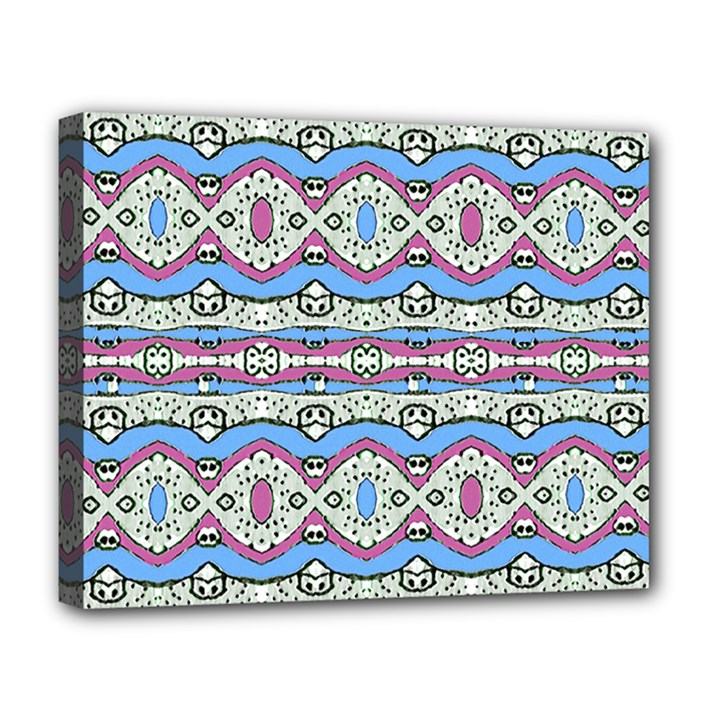 Aztec Style Pattern in Pastel Colors Deluxe Canvas 20  x 16  (Framed)