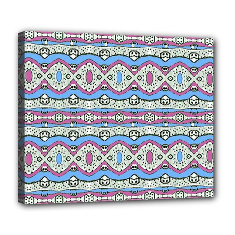 Aztec Style Pattern In Pastel Colors Deluxe Canvas 24  X 20  (framed)