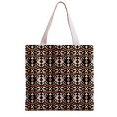Geometric Tribal Style Pattern In Brown Colors Scarf Grocery Tote Bag
