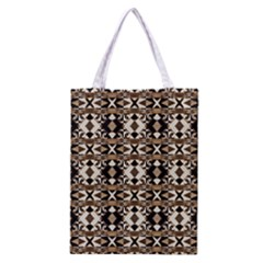 Geometric Tribal Style Pattern in Brown Colors Scarf Classic Tote Bag
