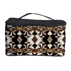 Geometric Tribal Style Pattern in Brown Colors Scarf Cosmetic Storage Case