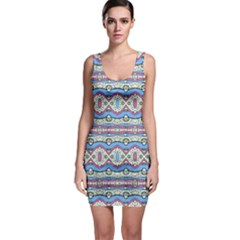 Aztec Style Pattern in Pastel Colors Bodycon Dress