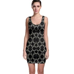 Geometric Abstract Pattern Futuristic Design Bodycon Dress