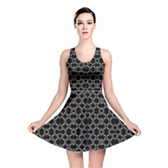 Geometric Abstract Pattern Futuristic Design Reversible Skater Dress