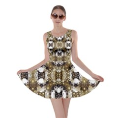 Baroque Ornament Pattern Print Skater Dress