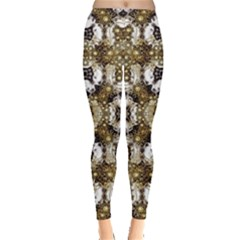 Baroque Ornament Pattern Print Leggings