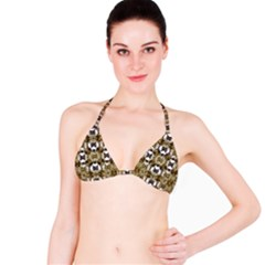 Baroque Ornament Pattern Print Bikini Top