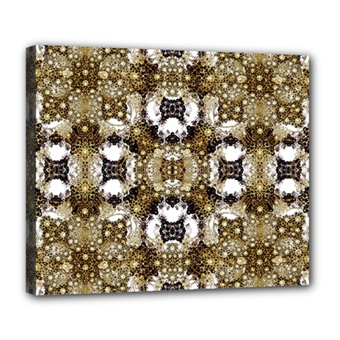 Baroque Ornament Pattern Print Deluxe Canvas 24  X 20  (framed)