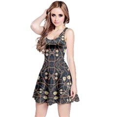 Victorian Style Grunge Pattern Sleeveless Dress