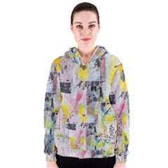 Graffiti Graphic Robot Women s Zipper Hoodie