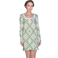 Luxury Pattern  Long Sleeve Nightdress