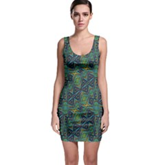 Tribal Style Colorful Geometric Pattern Bodycon Dress