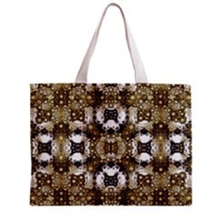 Futuristic Grid Pattern Design Print Tiny Tote Bag