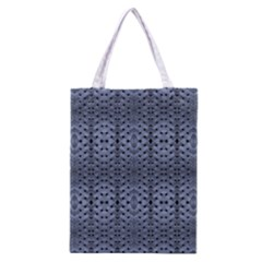 Futuristic Geometric Pattern Design Print In Blue Tones Classic Tote Bag