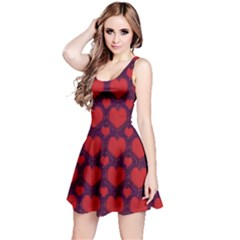 Galaxy Hearts Grunge Style Pattern Sleeveless Dress