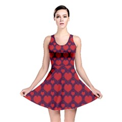 Galaxy Hearts Grunge Style Pattern Reversible Skater Dress
