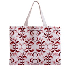 Floral Print Modern Pattern In Red And White Tones Tiny Tote Bag