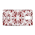 Floral Print Modern Pattern in Red and White Tones Samsung Galaxy Note 4 Hardshell Case View1