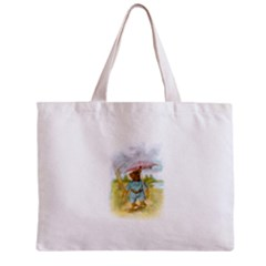 Vintage Drawing: Teddy Bear In The Rain Tiny Tote Bag