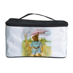 Vintage Drawing: Teddy Bear in the Rain Cosmetic Storage Case