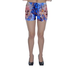 Magic Flower Skinny Shorts