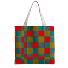 Squares in retro colors Grocery Tote Bag