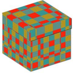 Squares in retro colors Storage Stool 12