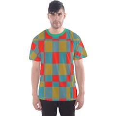 Squares in retro colors Men s Sport Mesh Tee