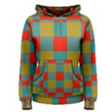 Squares in retro colors Women s Pullover Hoodie View1
