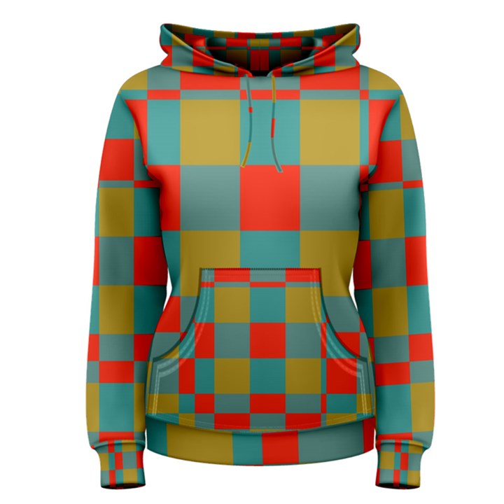 Squares in retro colors Women s Pullover Hoodie