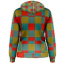 Squares in retro colors Women s Pullover Hoodie View2
