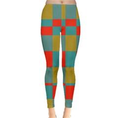 Squares in retro colors Leggings
