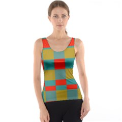 Squares in retro colors Tank Top
