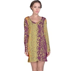 Scattered Pieces Long Sleeve Nightdress