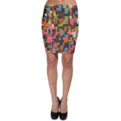Colorful pixels Bodycon Skirt