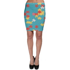 Puzzle Pieces Bodycon Skirt