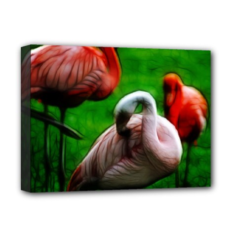 3pinkflamingos Deluxe Canvas 16  x 12  (Framed)