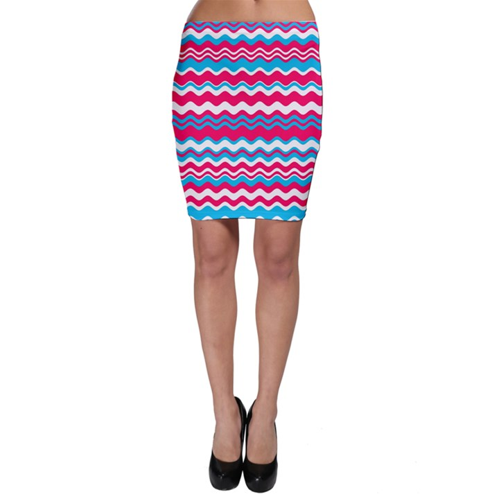 Waves pattern Bodycon Skirt