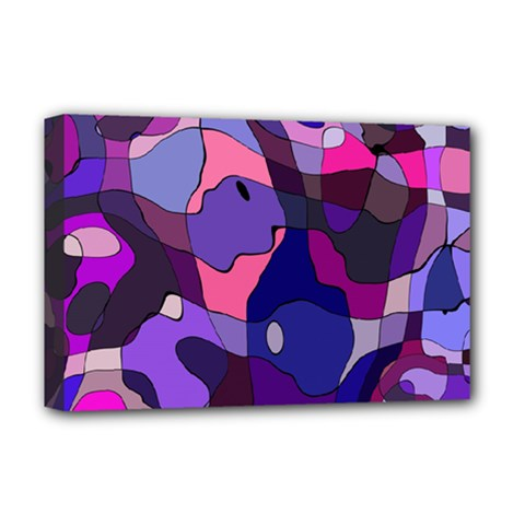 Blue Purple Chaos Deluxe Canvas 18  X 12  (stretched)
