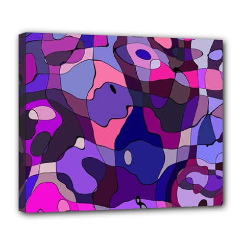 Blue Purple Chaos Deluxe Canvas 24  X 20  (stretched)