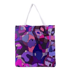 Blue purple chaos Grocery Tote Bag