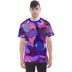 Blue purple chaos Men s Sport Mesh Tee