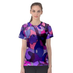 Blue Purple Chaos Women s Sport Mesh Tee