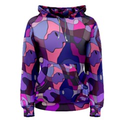 Blue purple chaos Women s Pullover Hoodie